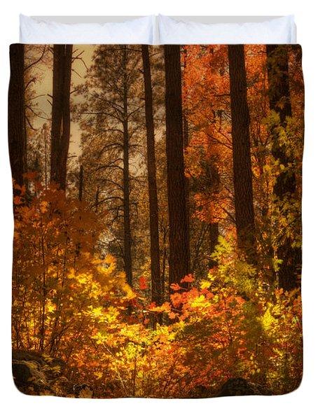 Fall Forest  Duvet Cover by Saija  Lehtonen