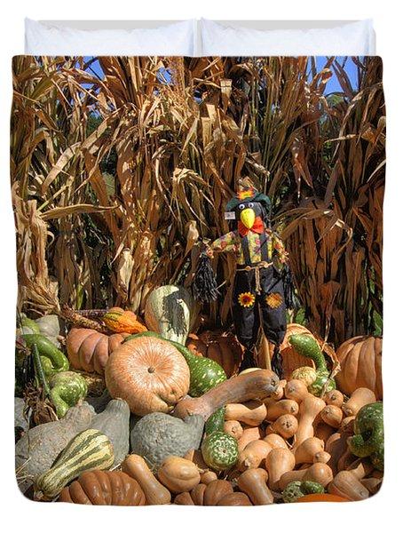 Fall Harvest Duvet Cover by Joann Vitali
