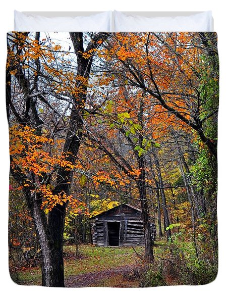 Fall Homestead Duvet Cover by Marty Koch