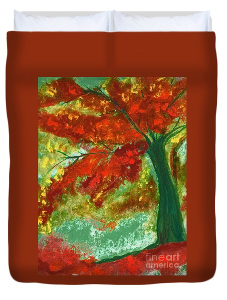Fall Impression By Jrr Duvet Cover by First Star Art