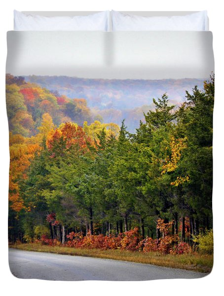 Fall On Fox Hollow Road Duvet Cover by Cricket Hackmann