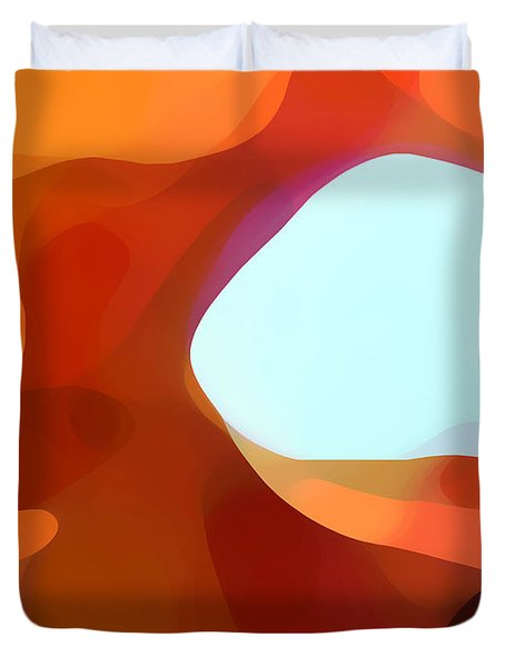 Fall Passage Duvet Cover by Amy Vangsgard