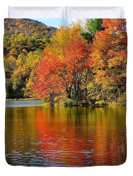 Fall Reflection Duvet Cover by Todd Hostetter