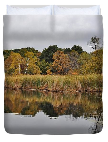 Fall Reflections 2 Duvet Cover by Todd and candice Dailey