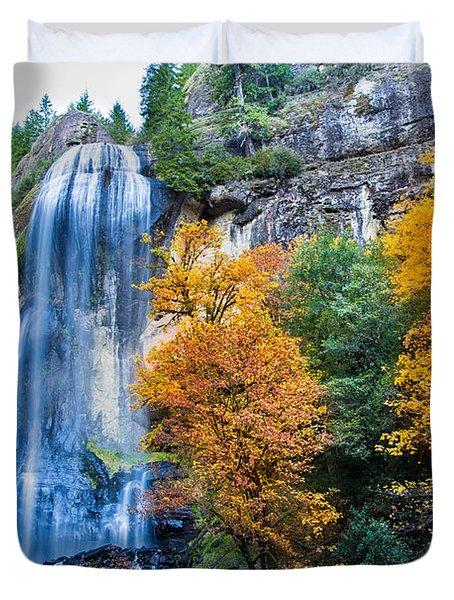 Fall Silver Falls Duvet Cover by Robert Bynum