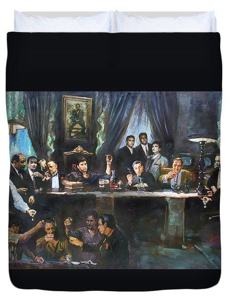 Fallen Last Supper Bad Guys Duvet Cover by Ylli Haruni