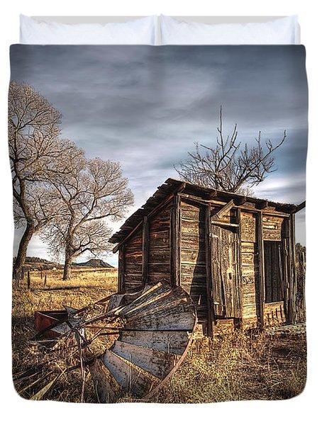 Fallen Windmill Duvet Cover by Dan Sabin
