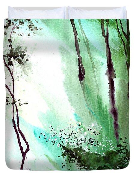 Falling Light Duvet Cover by Anil Nene