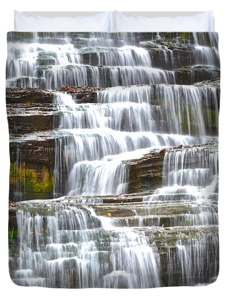 Falling Water Duvet Cover by Frozen in Time Fine Art Photography