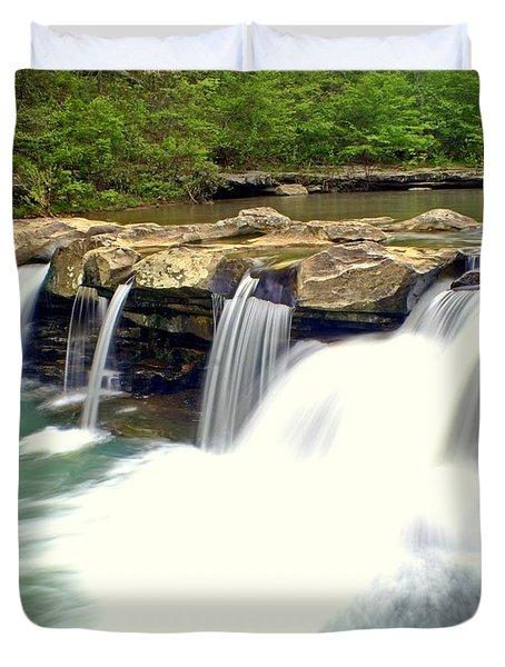 Falling Waters Falls 4 Duvet Cover by Marty Koch