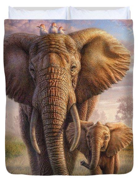Family Stroll Duvet Cover by Phil Jaeger