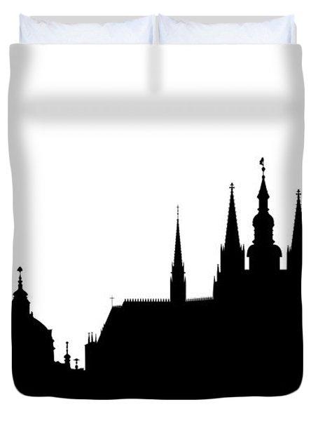 famous landmarks of Prague Duvet Cover by Michal Boubin