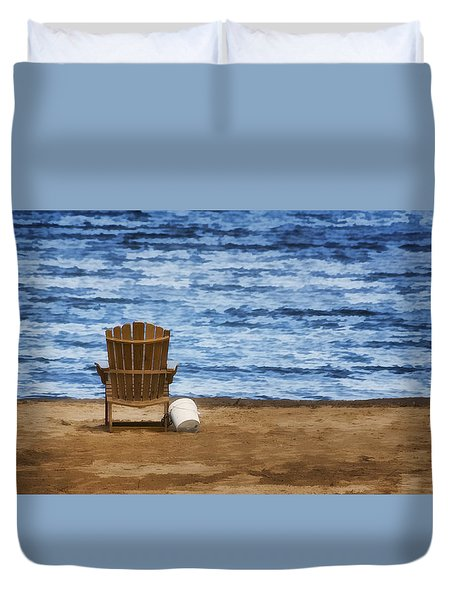 Fantasy Getaway Duvet Cover by Joan Carroll