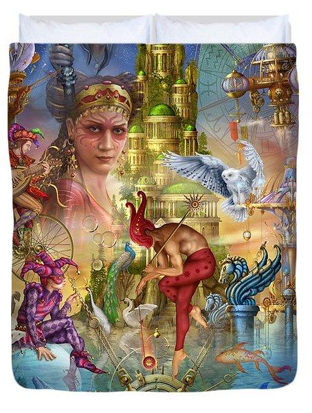 Fantasy Island Duvet Cover by Ciro Marchetti