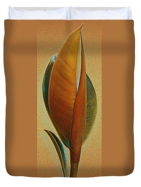 Fantasy Leaf Duvet Cover by Ben and Raisa Gertsberg