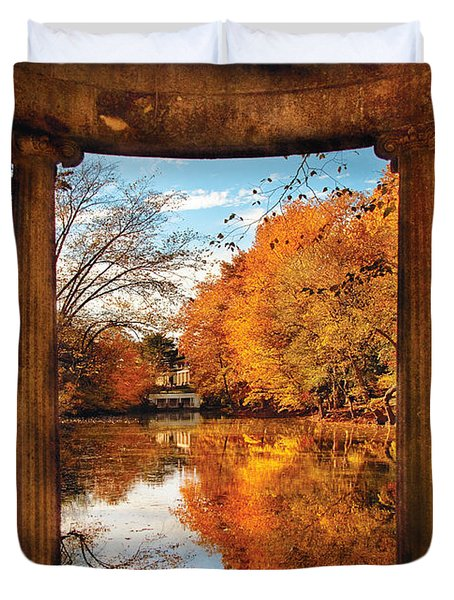 Fantasy - Paradise waits Duvet Cover by Mike Savad
