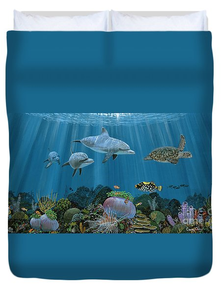 Fantasy Reef Re0020 Duvet Cover by Carey Chen