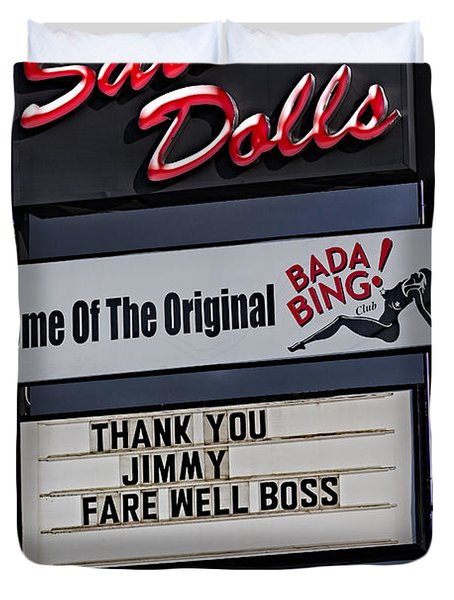 Farewell Boss Duvet Cover by Susan Candelario
