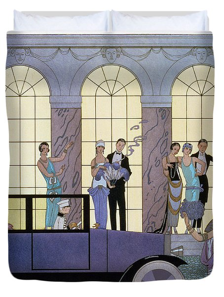 Farewell Duvet Cover by Georges Barbier