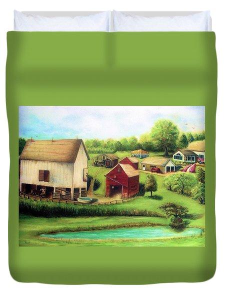 Farm Duvet Cover by Bernadette Krupa