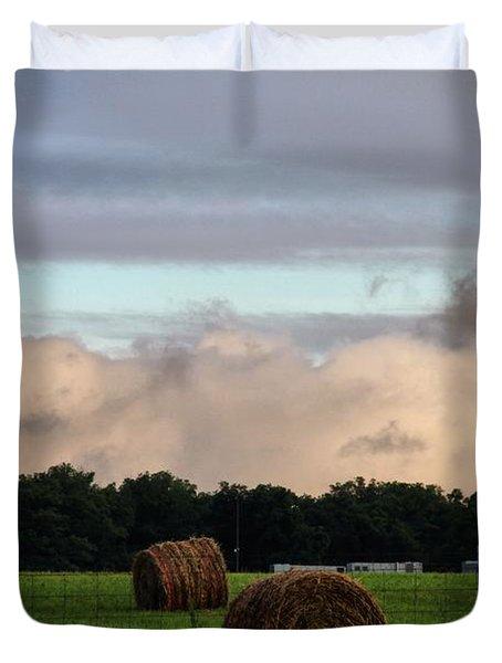 Farm Field Drama Duvet Cover by Dan Sproul