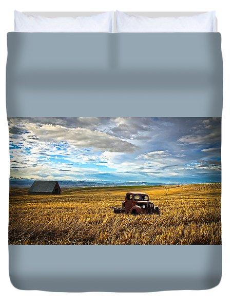 Farm Field Pickup Duvet Cover by Steve McKinzie