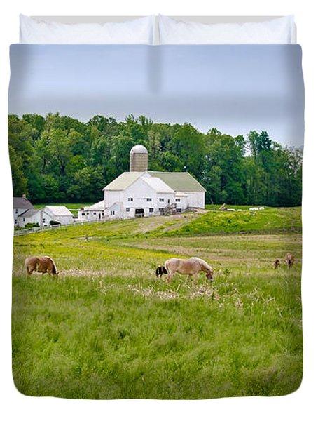 Farm Life Duvet Cover by Guy Whiteley