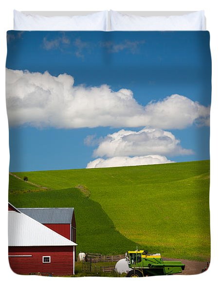 Farm Machinery Duvet Cover by Inge Johnsson