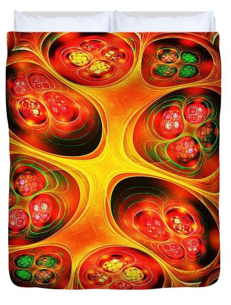 Farm Market Duvet Cover by Anastasiya Malakhova