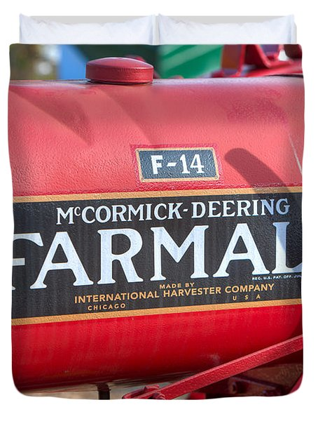 Farmall F-14 Tractor I Duvet Cover by Clarence Holmes
