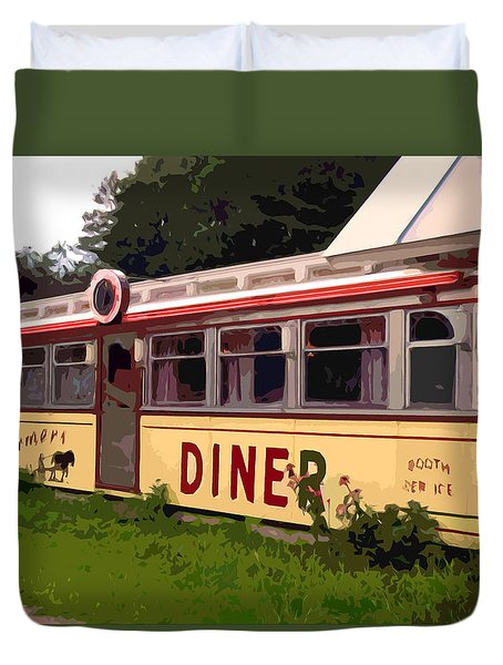 Farmers Diner Duvet Cover by Jean Hall