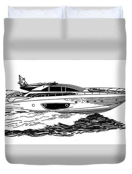 Fast Riva Motoryacht Duvet Cover by Jack Pumphrey