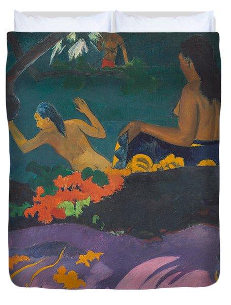 Fatata Te Miti  Duvet Cover by Paul Gauguin