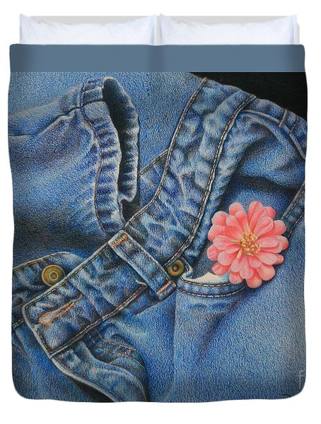 Favorite Jeans Duvet Cover by Pamela Clements