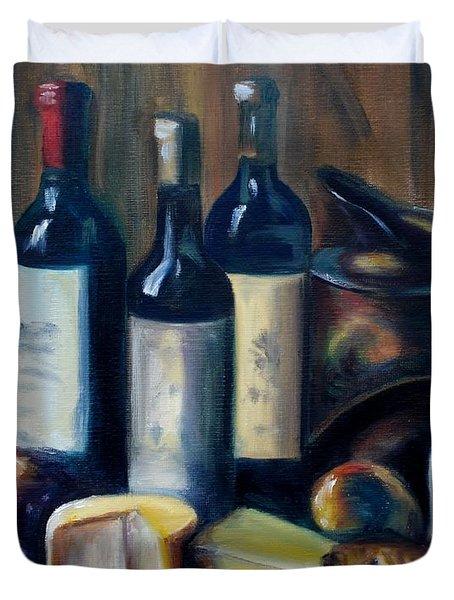 Feast Still Life Duvet Cover by Donna Tuten