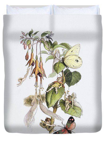 Feasting And Fun Among The Fuschias Duvet Cover by Richard Doyle