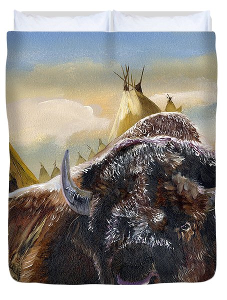 Feed The Fire Duvet Cover by J W Baker