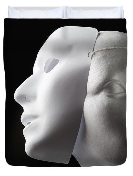 Female Mannequin And Mask Duvet Cover by Kelly Redinger
