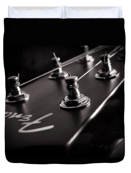 Fender Acoustic I Duvet Cover by Bob Orsillo