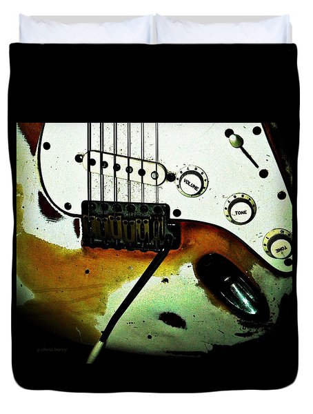 Fender Detail  Duvet Cover by Chris Berry