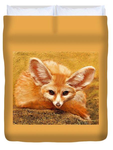 Fennec Fox Duvet Cover by Jane Schnetlage