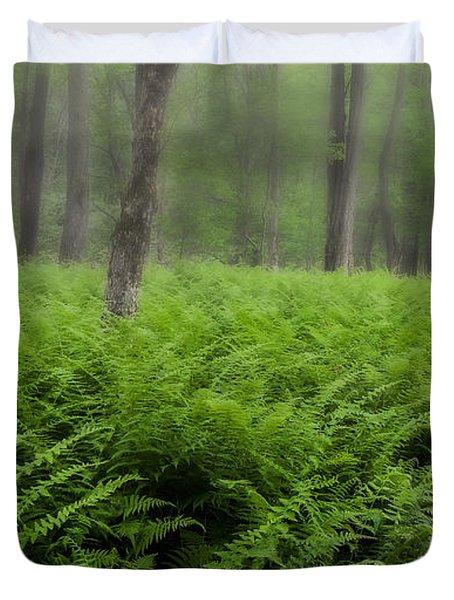 Fern of the Fog Duvet Cover by Bill  Wakeley