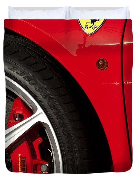 Ferrari Emblem 3 Duvet Cover by Jill Reger