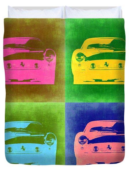 Ferrari Front Pop Art 3 Duvet Cover by Naxart Studio