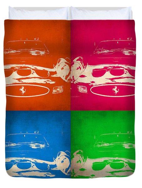 Ferrari Front Pop Art 4 Duvet Cover by Naxart Studio