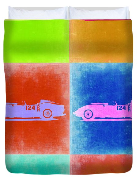 Ferrari Testarossa Pop Art 2 Duvet Cover by Naxart Studio
