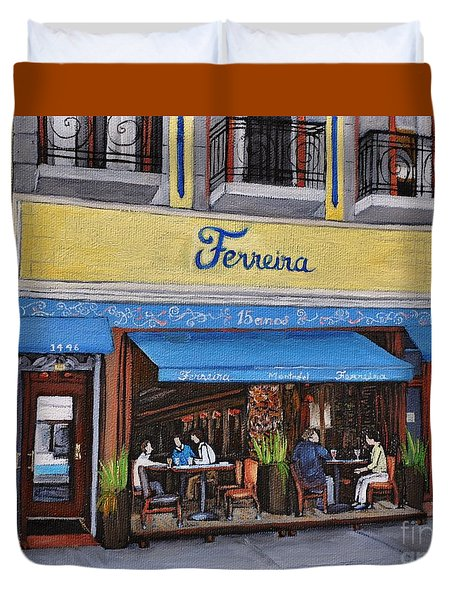 Ferreira Cafe Duvet Cover by Reb Frost