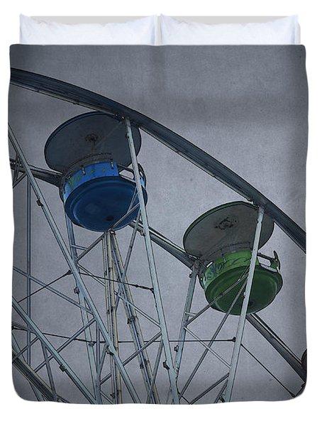 Ferris Wheel Duvet Cover by David Gordon