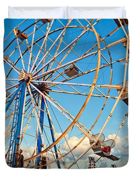 Ferris Wheel Duvet Cover by Steve Harrington