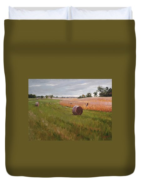 Field Day Duvet Cover by Scott Harding